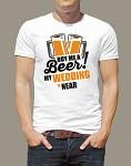 Rozlučkové tričko - pánské bílé - ženich - beer - vel.S