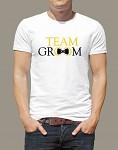 Rozlučkové tričko - pánské bílé - team groom