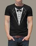Rozlučkové tričko - pánské černé - frak