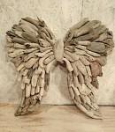 Dřevěná křídla z náplavového dřeva - 55 cm