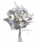Ranunculus svazek - bílý s patinou