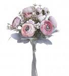 Ranunculus svazek - růžový s patinou