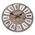 Nástěnné hodiny dřevěné - Love - 34 cm