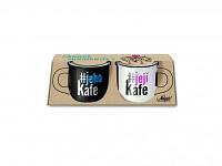 Párové hrníčky espresso - jeho kafe/její kafe