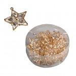 Dekorační hvězda s krystaly - zlatá - 1ks