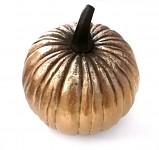 Dýně polyston metalická - zlatá 15 cm
