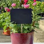 Fotorekvizita - tabulky černé na špejli bez rámečku - 4 ks