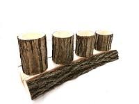Adventní svícen dřevěný postupný - akátový