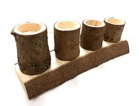 Adventní svícen dřevěný postupný - vrbový