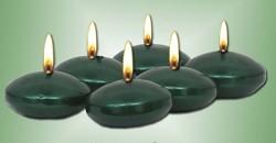 Plovoucí svíčka - smaragdově zelená - 6 ks