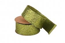 Stuha metalická zelená - 4cm - 4,6m