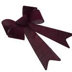 Mašle vánoční sametová - bordo - 1 ks