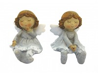 Andělka sedící - sv. šedá