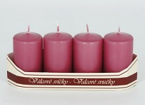 Adventní svíce - starorůžové malé