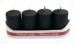 Adventní svíce - černé metalické matné