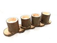 Adventní svícen dřevěný lepený - vrbový