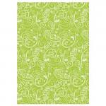 Hedvábný papír do dárkových tašek - 5 ks - ornament zelený