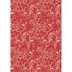 Hedvábný papír do dárkových tašek - 5 ks - ornament červený