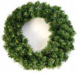 Věnec - smrkové chvojí zelené - 40 cm