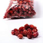 Šišky malé frost - červené - 50 g