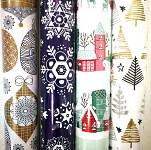 Balicí vánoční papír - 70cm x 2m - zimní vesnice