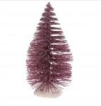 Drátěný stromeček - růžovofialový - 10 cm