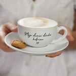 Porcelánový šálek s podšálkem 210 ml - Moje denní dávka kofeinu