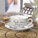 Porcelánový šálek s podšálkem 210 ml - Nejdřív káva, pak víno
