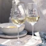 Párové sklenice na víno 340 ml - Jaký otec/ Taková dcera