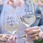 Párové sklenice na víno 340 ml - Jaká matka/ Taková dcera