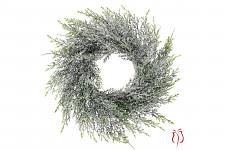 Věnec - umělé smrkové chvojí zelené - 30 cm