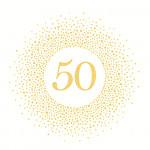 Ubrousky - se zlatým číslem 50