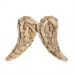 Dřevěná křídla z náplavového dřeva - 52 cm