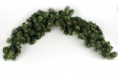 Zelená chvojková dekorace - oblouk nad dveře - 120 cm