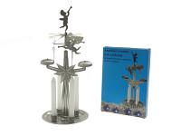 Andělské zvonění 27 cm stříbrné - andílci