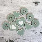 Dřevěná dekorace - sada perníčkových domečků I. - 3ks