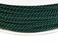 Kroucená šňůra 2,8 mm - smaragdově zelená - 1m