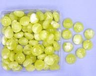Plastové kamínky žluto-bílé