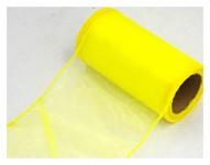 Organza stuha -sv.žlutá