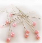Špendlík sv.růžová perla - malá - 1ks