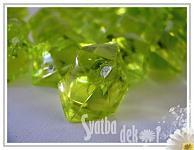 Akrylové krystaly -žlutozelené