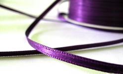 Saténová stuha 3 mm - tm.fialová - 1m
