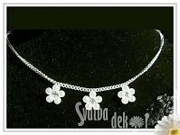 Bižuterie - perličkový náhrdelník - 3 kytičky