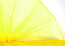 Organza šerpa - sv.žlutá