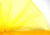 Organza šerpa - tm.žlutá
