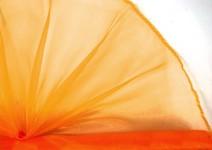 Organza šerpa-  tm.oranžová