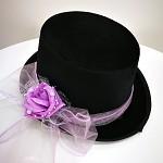 Cylindr černý se sv.fialovou kytkou