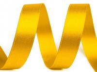 Saténová stuha 15mm/1 m  - žlutá