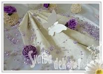 Motýlek - jmenovka, dekorace - perleťový