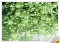 Perličky na silikonu - zelené velké